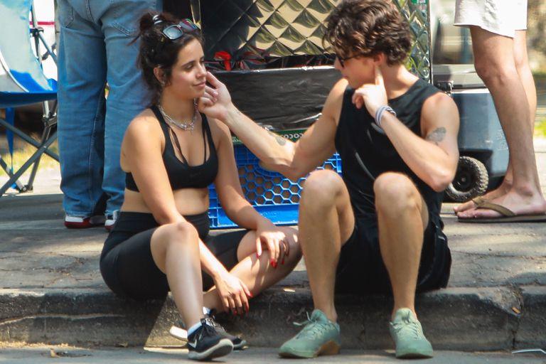 Mimos y caminata. Camila Cabello y Shawn Mendes estuvieron haciendo algo de ejercicio por un parque en Beverly Hills y también tuvieron tiempo para mostrarse muy cariñosos