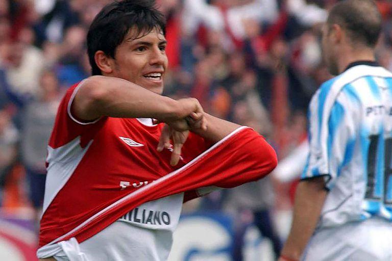 Cuando el Kun Aguero brilló ante Racing: el DT de Independiente también era Julio César Falcioni, que este sábado no podrá estar por tener Covid-19