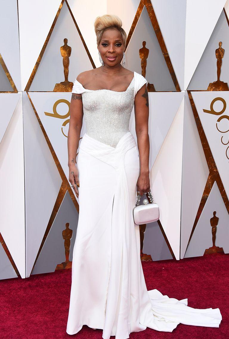 Mary J. Blige también de blanco, aspira a quedarse con el Oscar a mejor actriz de reparto por Mudbound