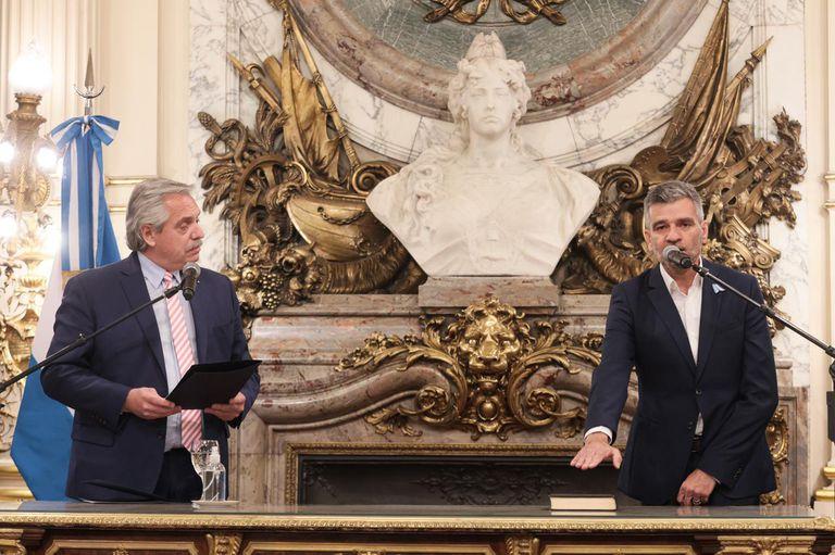 Juan Zabaleta juró esta tarde como ministro de Desarrollo Social en la Casa Rosada.