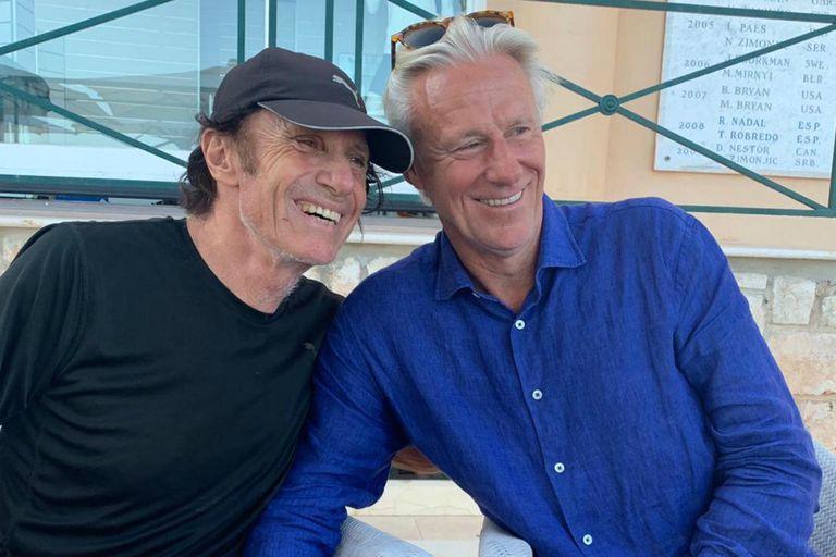 Son leyendas: el reencuentro de Vilas y Bjorn Borg en Montecarlo