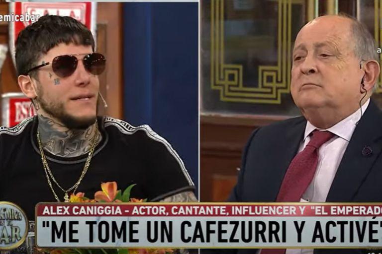 """Alex Caniggia fue increpado por Chiche Gelblung: """"No podés dar un mensaje antivacuna"""""""