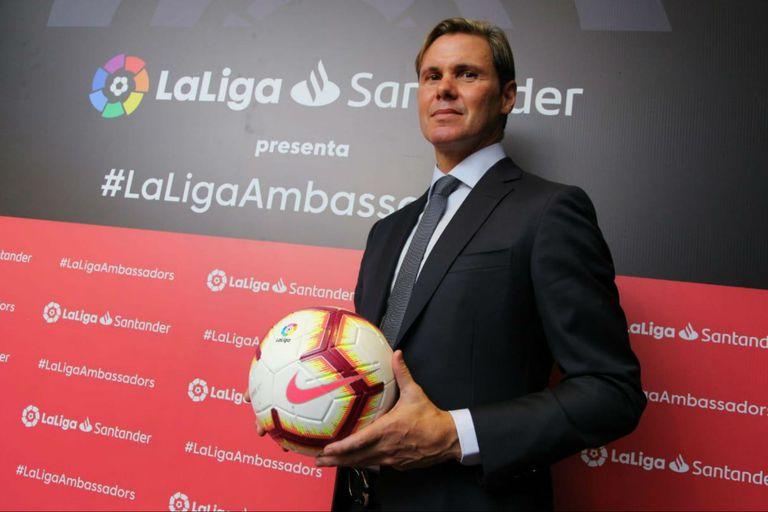 Redondo fue presentado como embajador de La Liga, habló de Messi y la selección