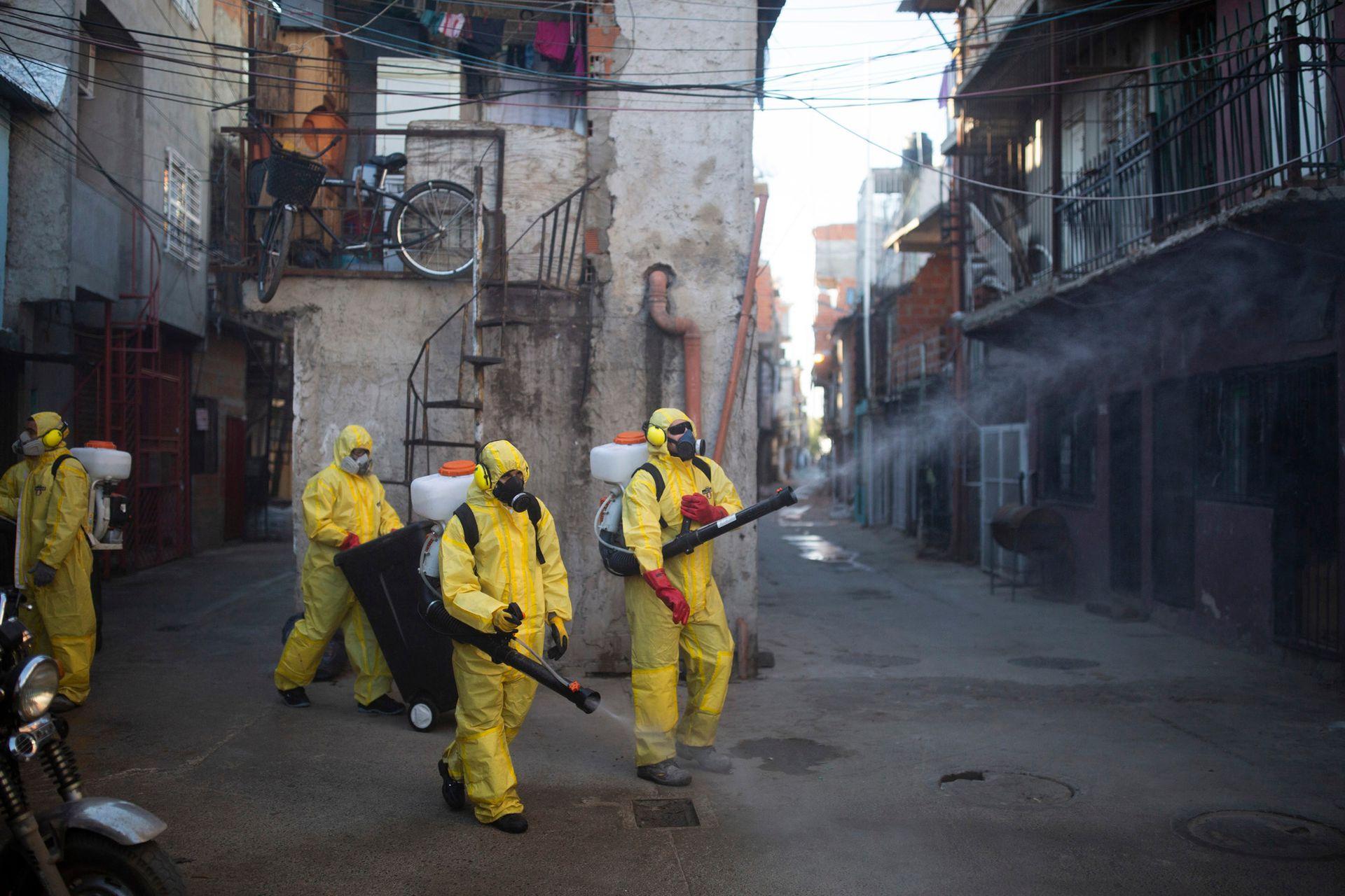 Coronavirus en barrios vulnerables, imagen de la Villa 31