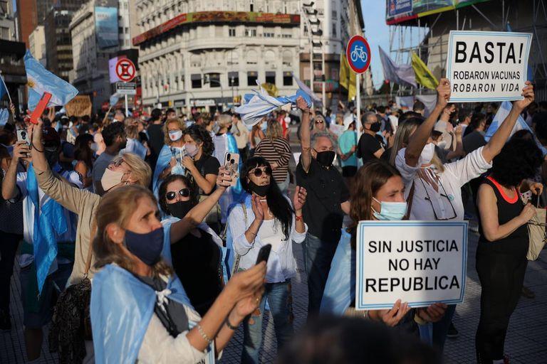 Protesta #17A en el Obelisco