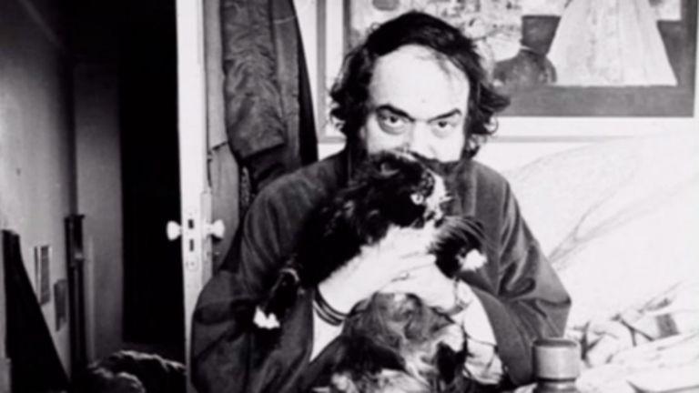 Kubrick y uno de sus queridos gatos