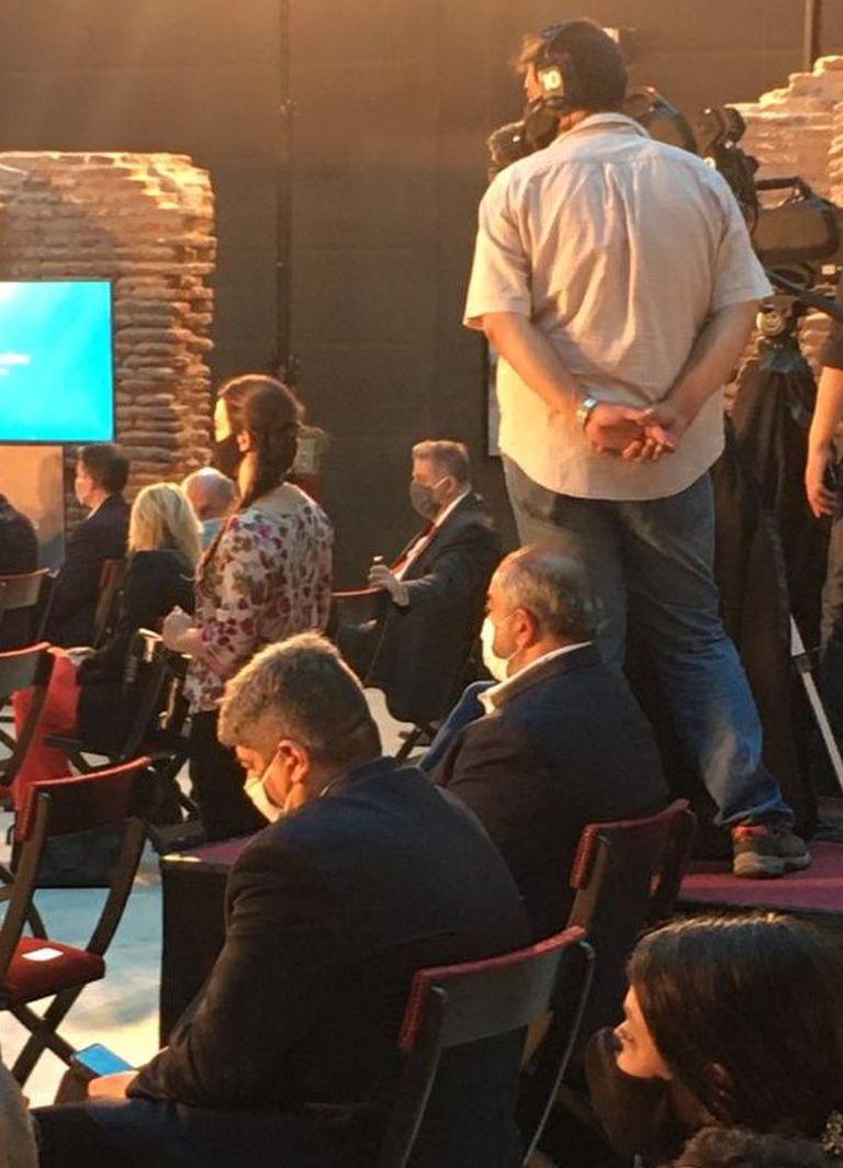 Pablo Moyano y Héctor Daer, en un acto oficial, hace unos meses; ese día no se saludaron