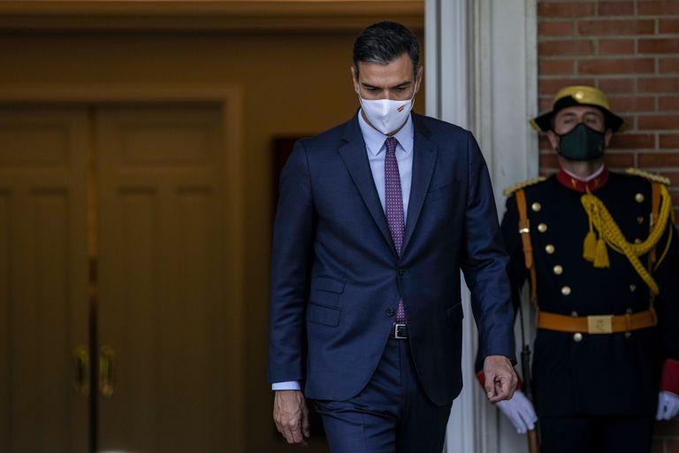 El presidente del gobierno español Pedro Sánchez en el Palacio de la Moncloa en Madrid el martes 7 de septiembre del 2021. (AP Foto/Manu Fernández)