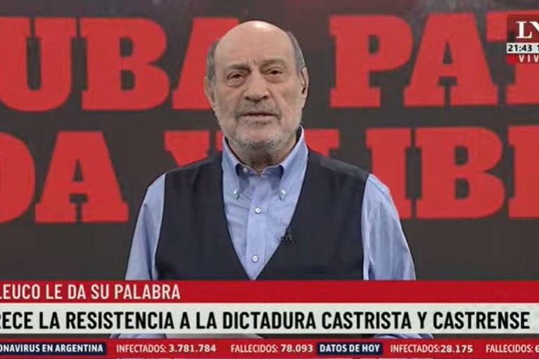 """Leuco, sobre la vacuna cubana: """"Vizzotti acordó con nefastos personajes"""""""