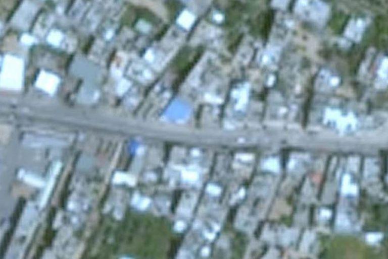 Las imágenes de Gaza que ofrece Google Earth son de baja resolución.