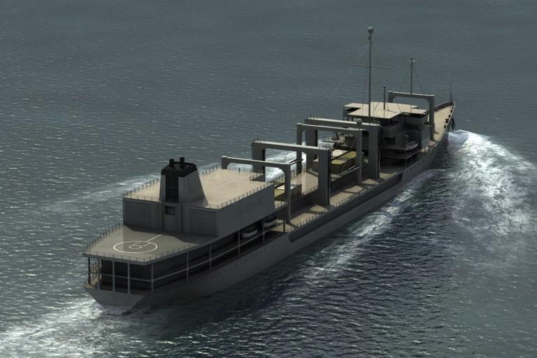 El buque es un petrolero cisterna y tiene un portaaviones