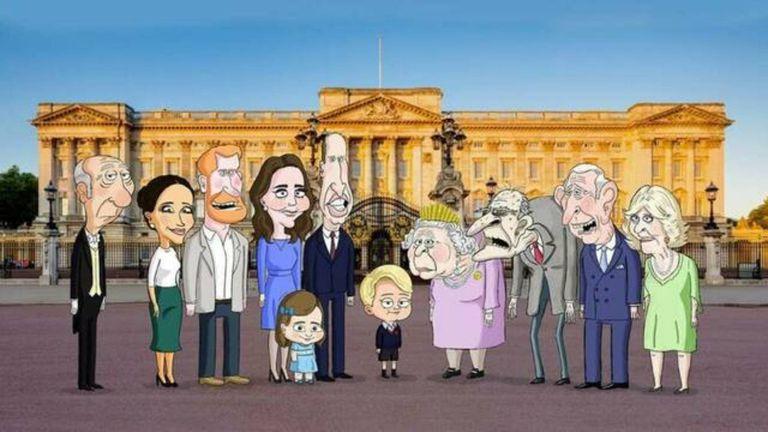 Las caricaturas representan sin disimulo a los principales miembros de la familia real