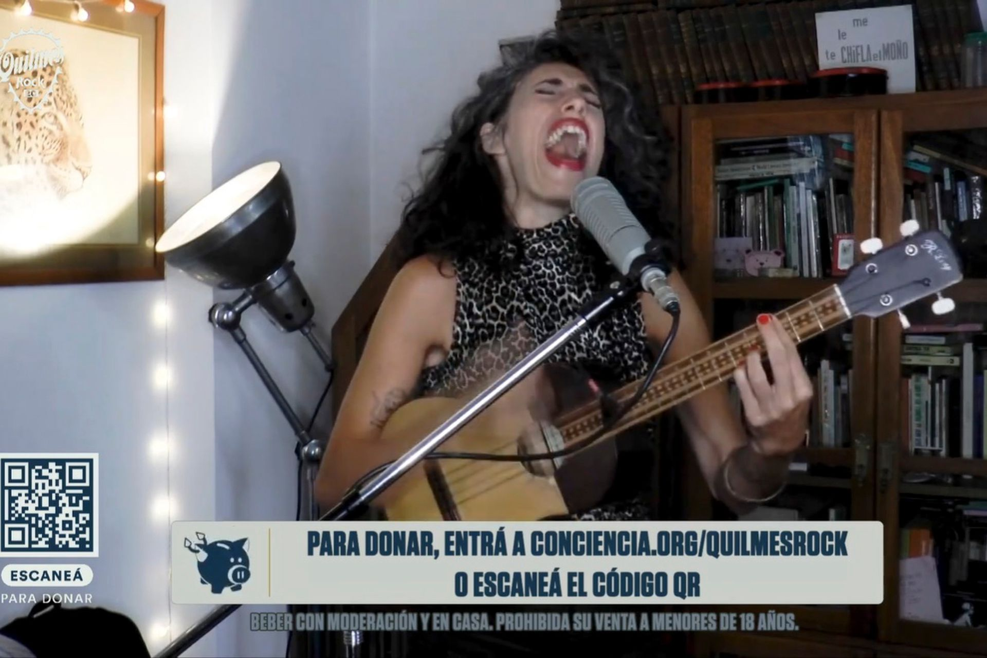 Paula Maffia es una de las artistas que participó de la edición digital del Quilmes Rock