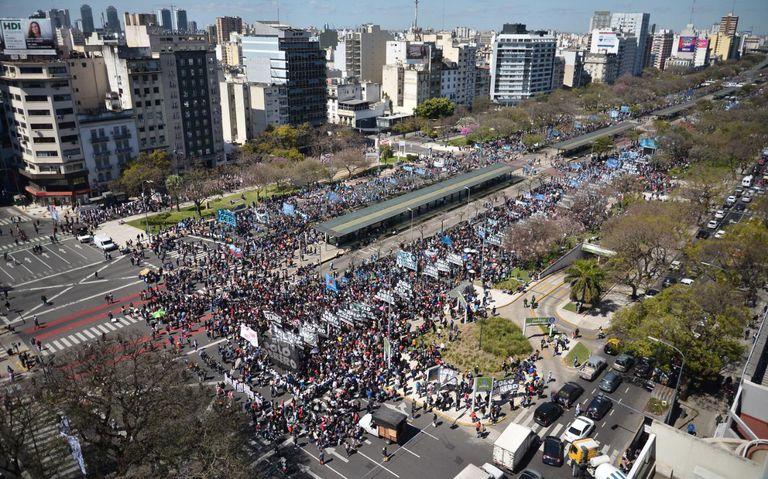 Las organizaciones concentraron en 9 de Julio e Independencia.