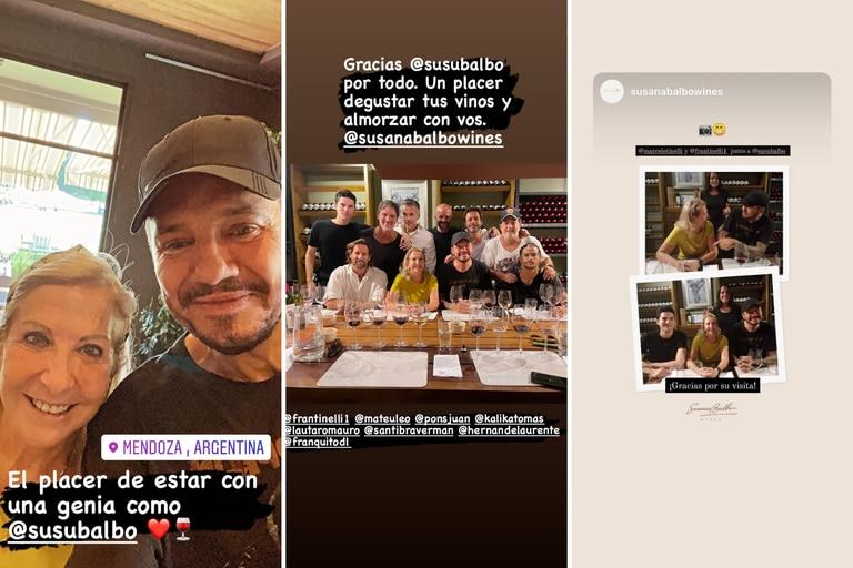 Tinelli y sus amigos visitaron las más exclusivas bodegas mendocinas como Susana Balbo Wines, Catena Zapata y SuperUco