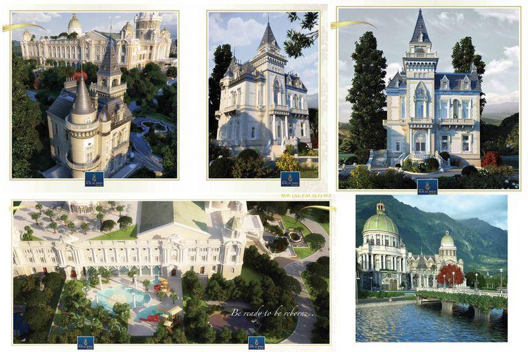 Así debían ser los supuestos castillos del complejo turco, pero terminaron abandonados y en quiebra