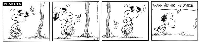 """Thank you for the dance"", otra tira que muestra la delicadeza de Charles M. Schulz"