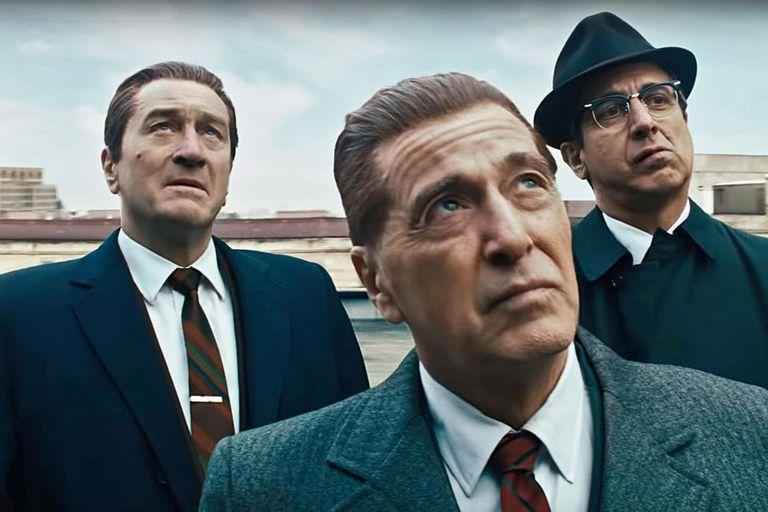 Robert De Niro, Al Pacino y Ray Romano en el film de Scorsese