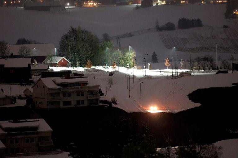 El alud se produjo en una zona residencial de la municipalidad de Gjerdrum, a unos 30 kilómetros al norte de la capital Oslo