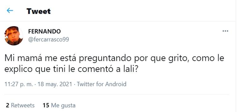 Los usuarios se volvieron locos al ver que Tini Stoessel le comentó una publicación a Lali Espósito