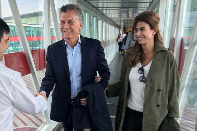 El expresidente Mauricio Macri viajó con su mujer, Juliana Awada, y la hija de ambos, Antonia