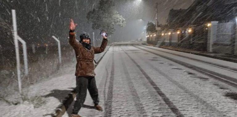 Histórica nevada en el sur de Brasil