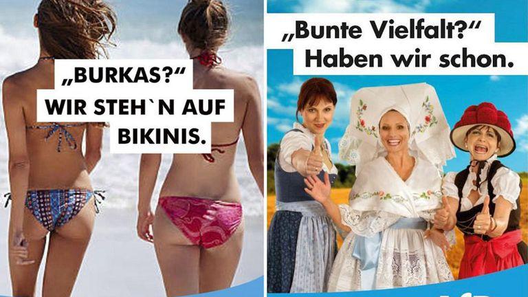 """""""?Burkas? Nosotras usamos bikinis. ?Quieren diversidad? Ya tenemos"""", dice la campa?a de la AfD"""