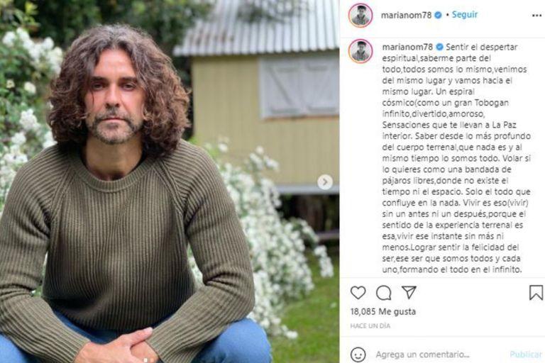 La publicación del actor en Instagram generó una ola de comentarios reflexivos y de apoyo al contenido del texto