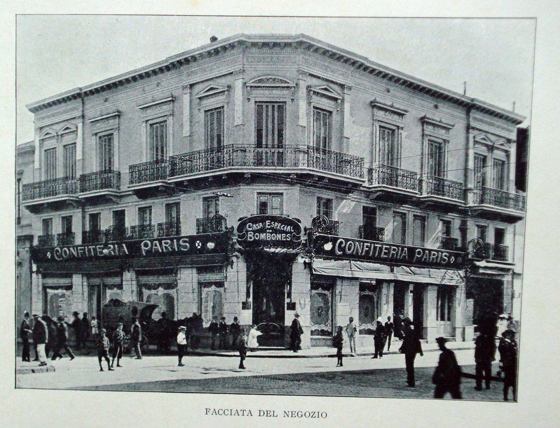 La Confitería Paris, antes de la remodelación de 1916.