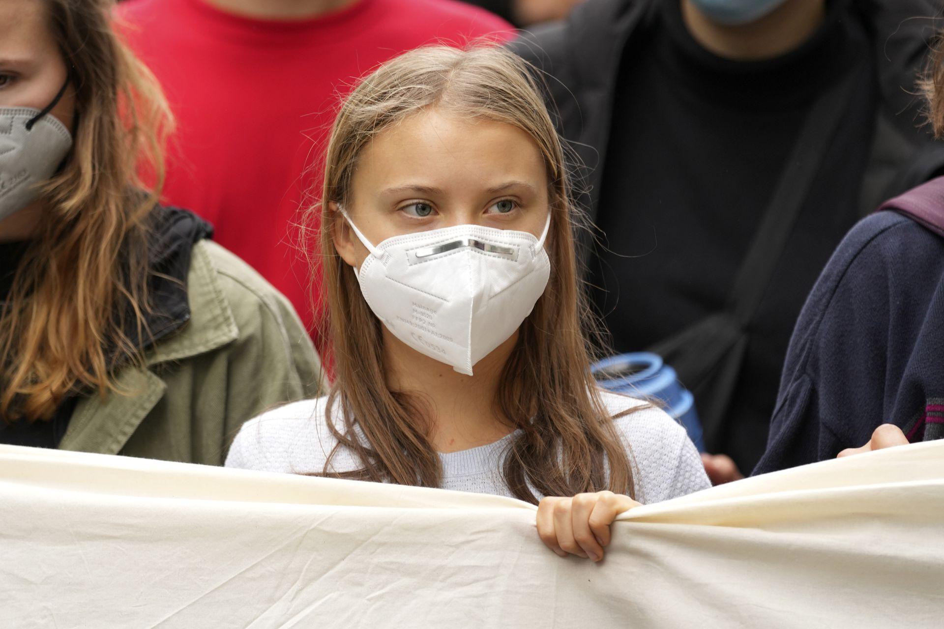 Greta Thunberg en la huelga climática global Fridays for Future en Berlín, Alemania, el viernes 24 de septiembre de 2021