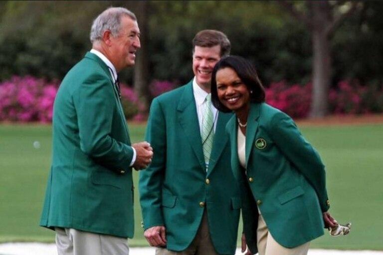 Condoleeza Rice, la ex funcionaria de George Bush (h.) que se siente muy cómoda en su papel de socia del Augusta National