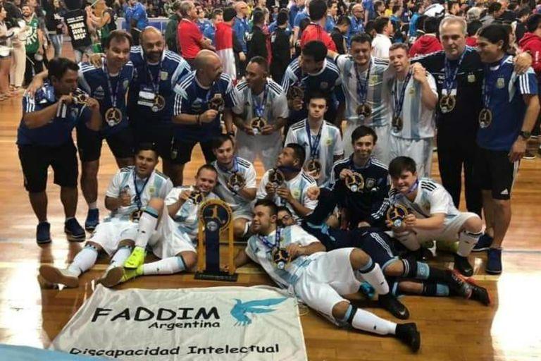 El seleccionado argentino de futsal con síndrome de Down: subcampeón del mundo