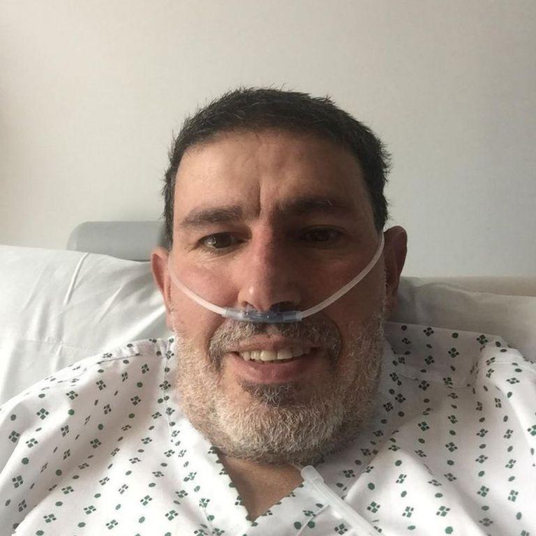 Abderrahmane Fadil, mientras se recuperaba.