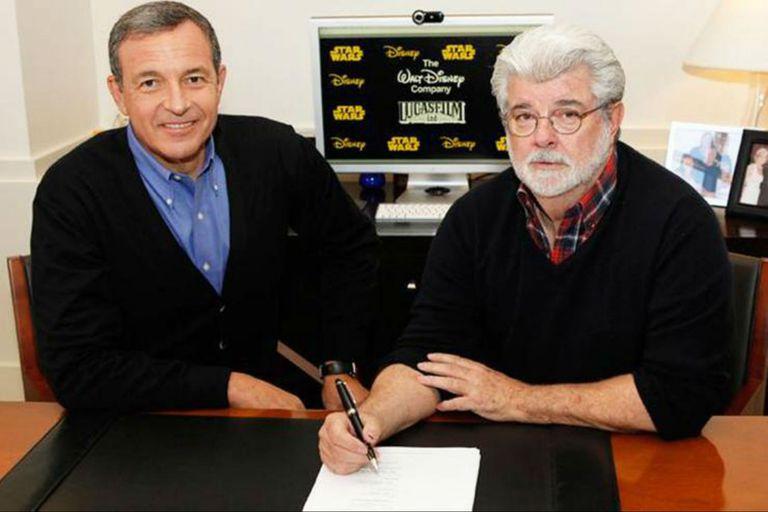 George Lucas al momento de venderle su saga a Disney