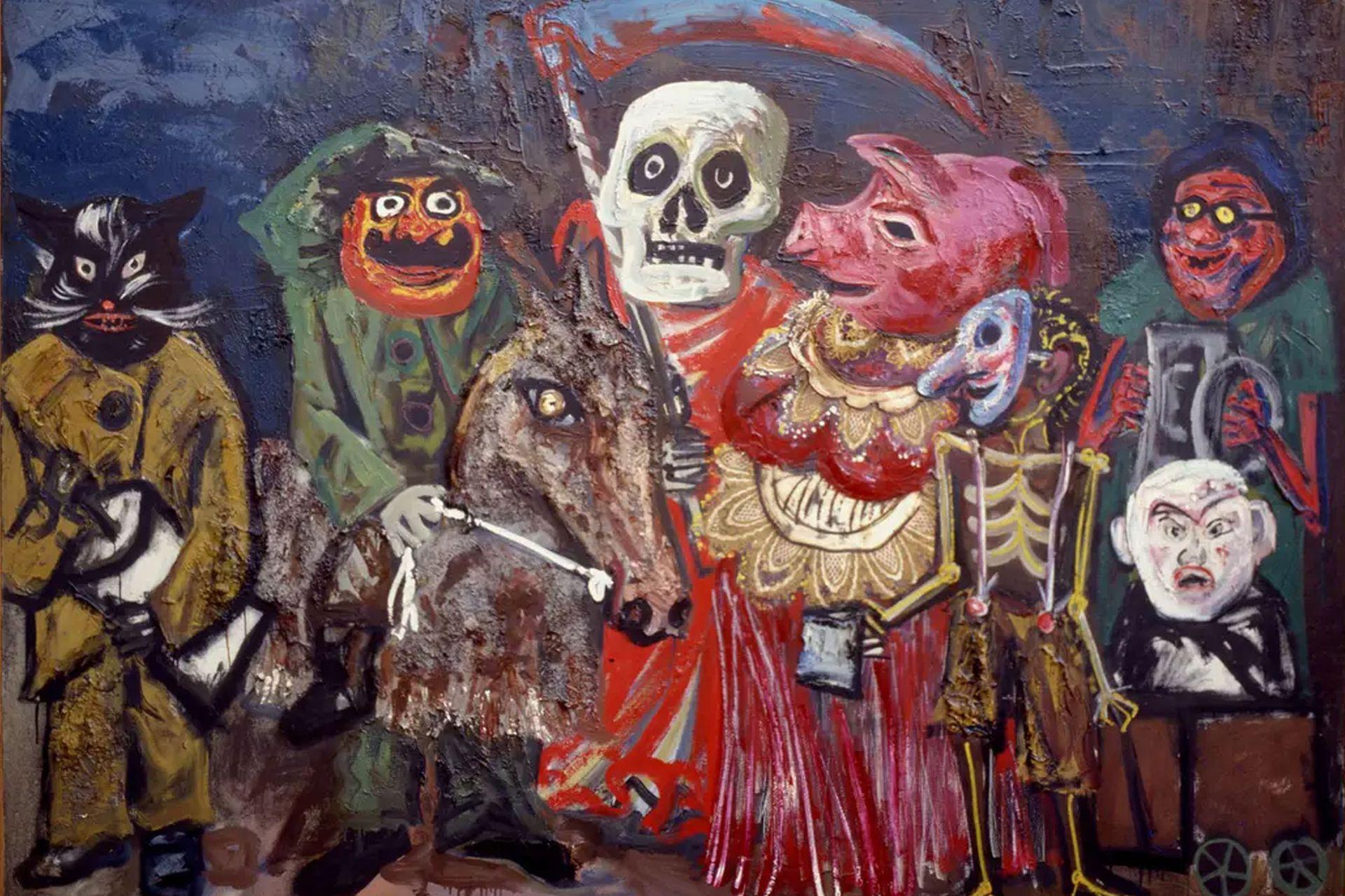 Juanito Laguna es un personaje de ficción creado por Antonio Berni. Aquí, la obra Los carnavales de Juanito Laguna.