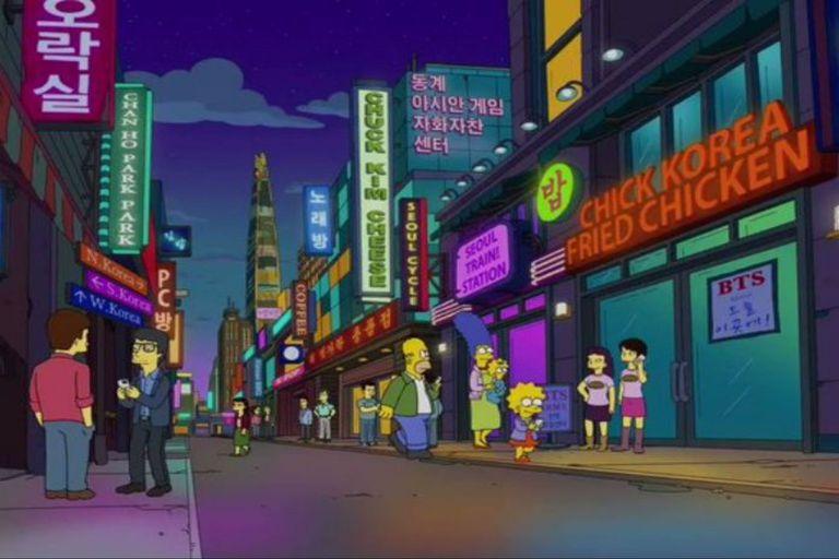 BTS llegó al universo de Los Simpson
