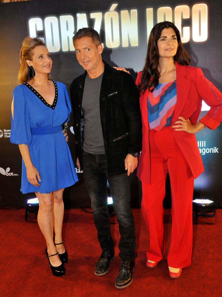 Soledad Villamil, Gabriela Toscano, y Adrían Suar posaron juntos: los tres protagonistas de la nueva película argentina