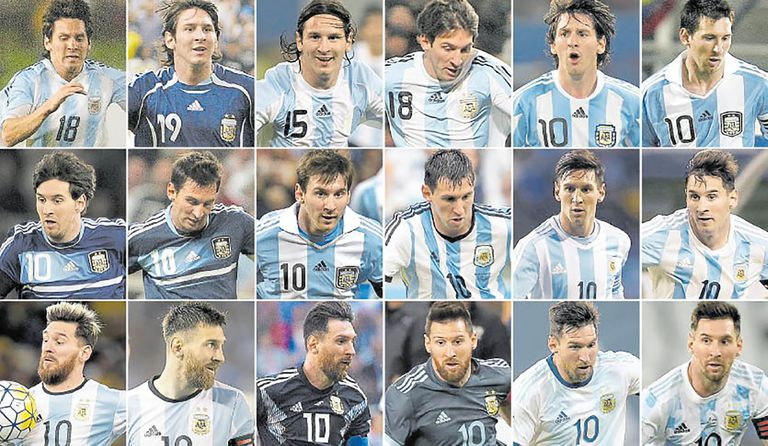 Tenía 17 años Messi cuando debutó en la selección; a tres días de cumplir 34, mantiene la obsesión de ganar un título con la selección