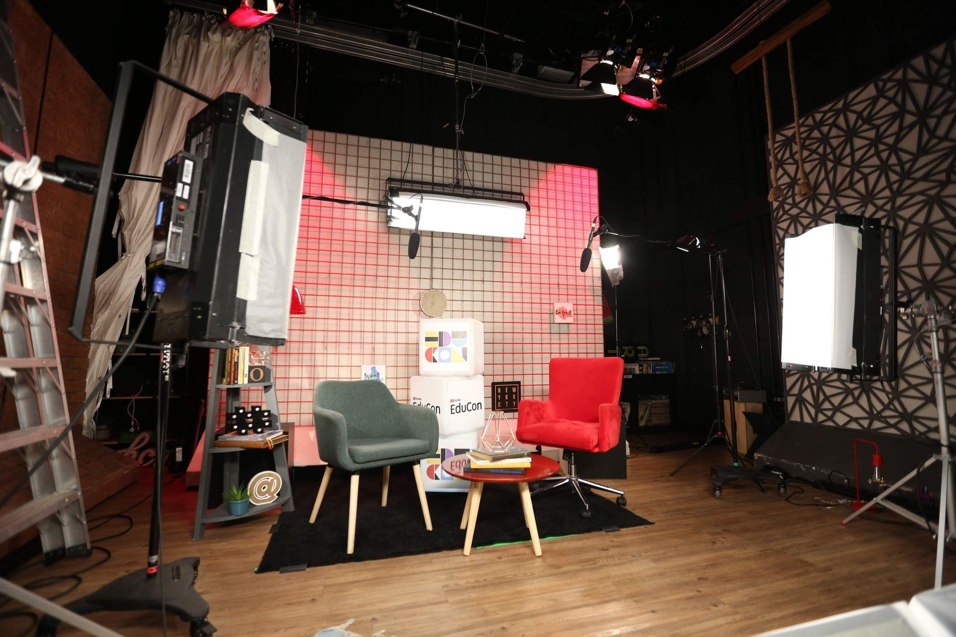 Uno de los espacios que tiene YouTube para que los edutubers graben sus videos
