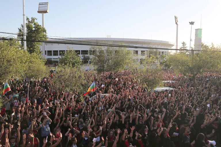 Entre 4000 y 6000 personas participaron de la performance