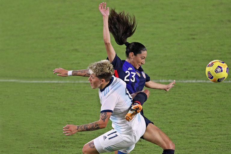 Los goles de la paliza de Estados Unidos a la selección argentina femenina: 6-0