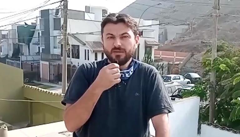 """Juan Grabois grabó un video desde Perú: """"Estoy bien"""""""