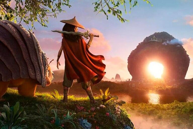 La película animada Raya y el último dragón será estrenada el 5 de marzo de manera simultánea en cines y en Disney+