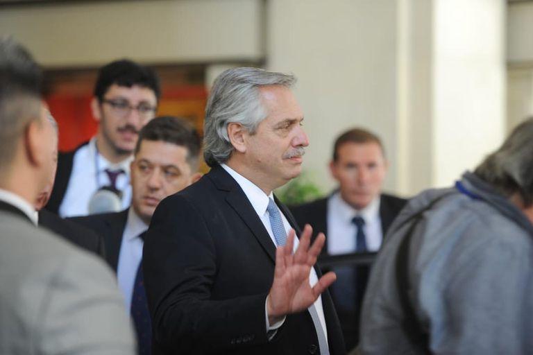 Alberto Fernandez en el Alvear