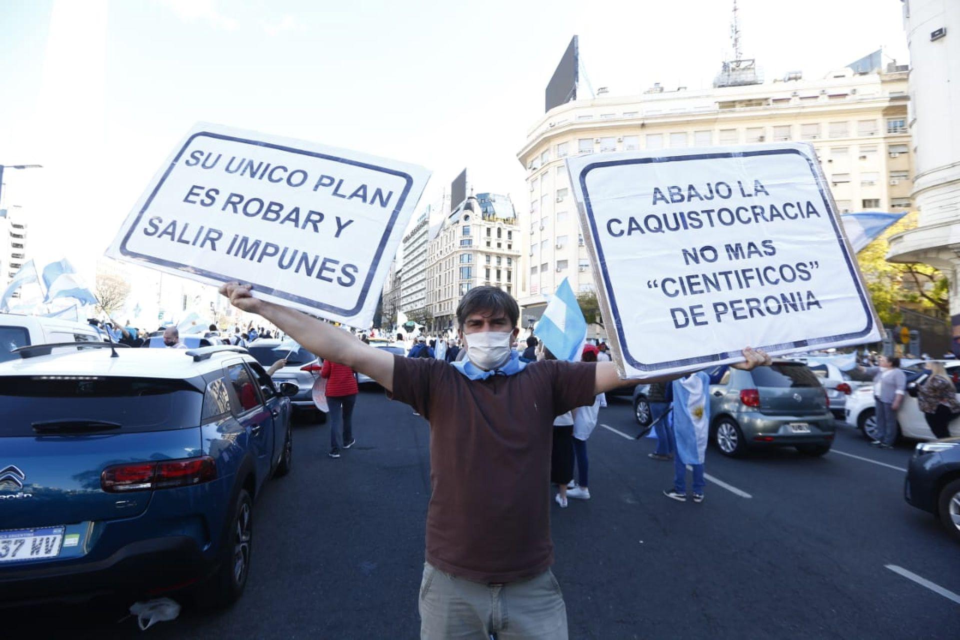 Justicia y corrupción, dos reclamos recurrentes de la manifestación