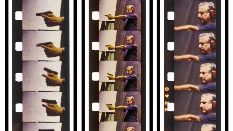 Fotogramas de la secuencia del disparo