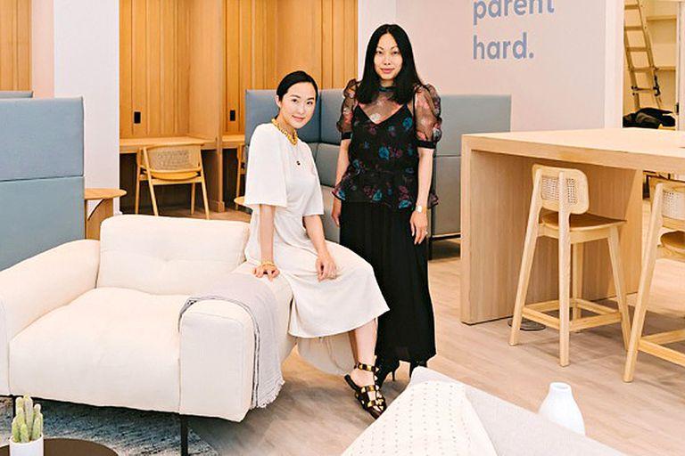 Lim y Nguyen, las creadoras de esta idea que combina trabajo y maternidad/paternidad