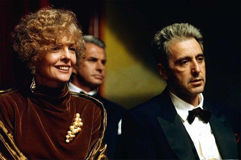 Diane Keaton y Al Pacino en El Padrino III