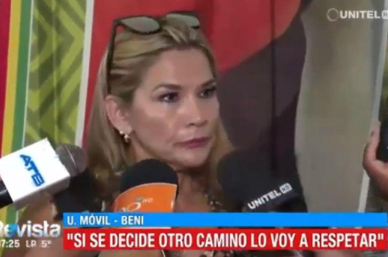 Jeanine Añez, senadora de la oposición y sucesora del mandato de Estado en Bolivia