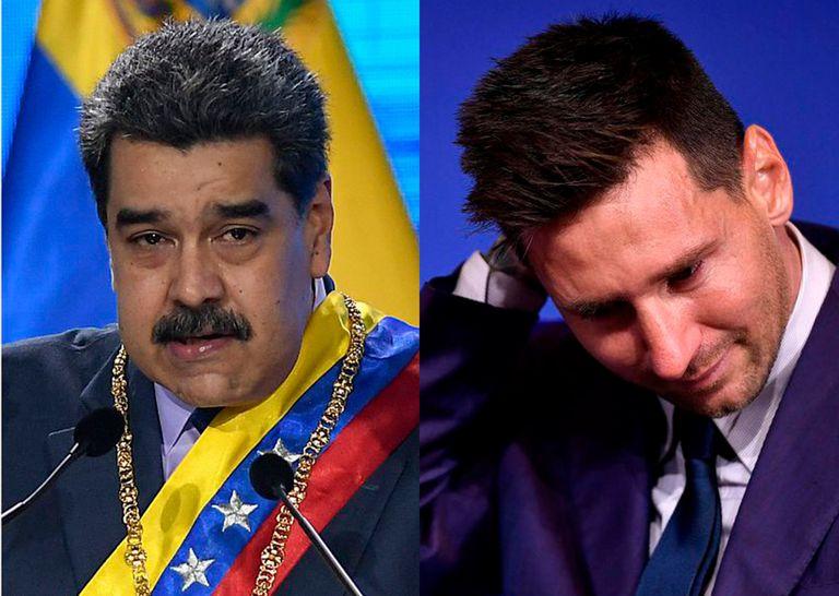 Nicolás Maduro homenajeó a Messi en un acto